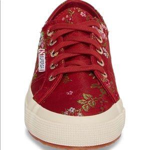 Superga Women's satin jacquard flower Sneaker 8